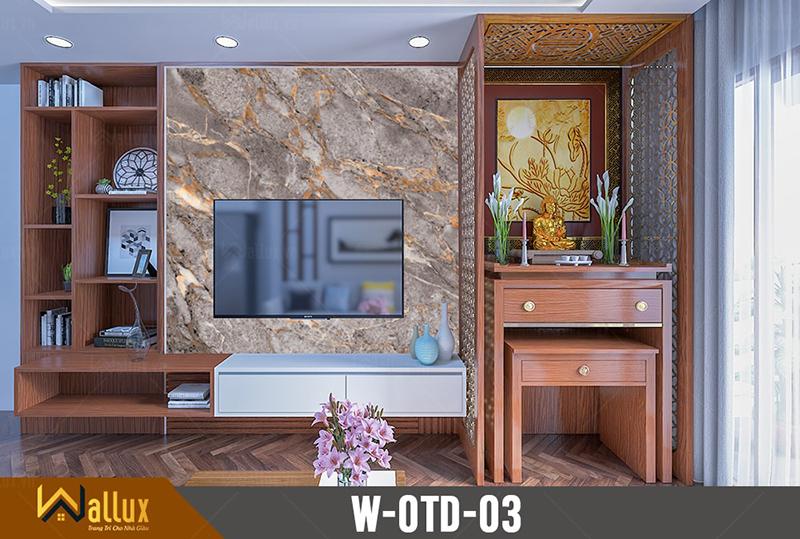 Tấm ốp tráng gương vân đá Wallux W-OTD-03