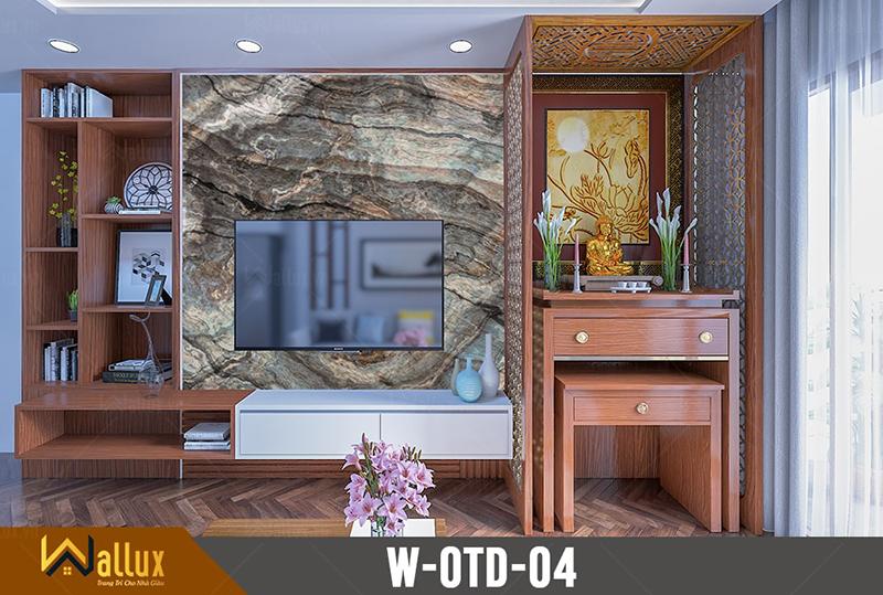 Tấm ốp tráng gương vân đá Wallux W-OTD-04