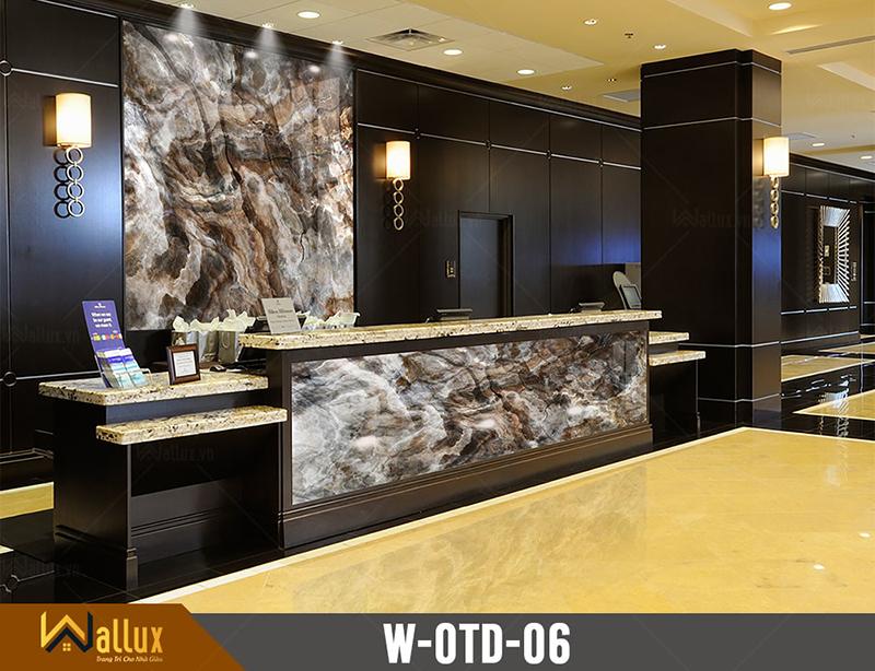 Tấm ốp tráng gương vân đá Wallux W-OTD-06