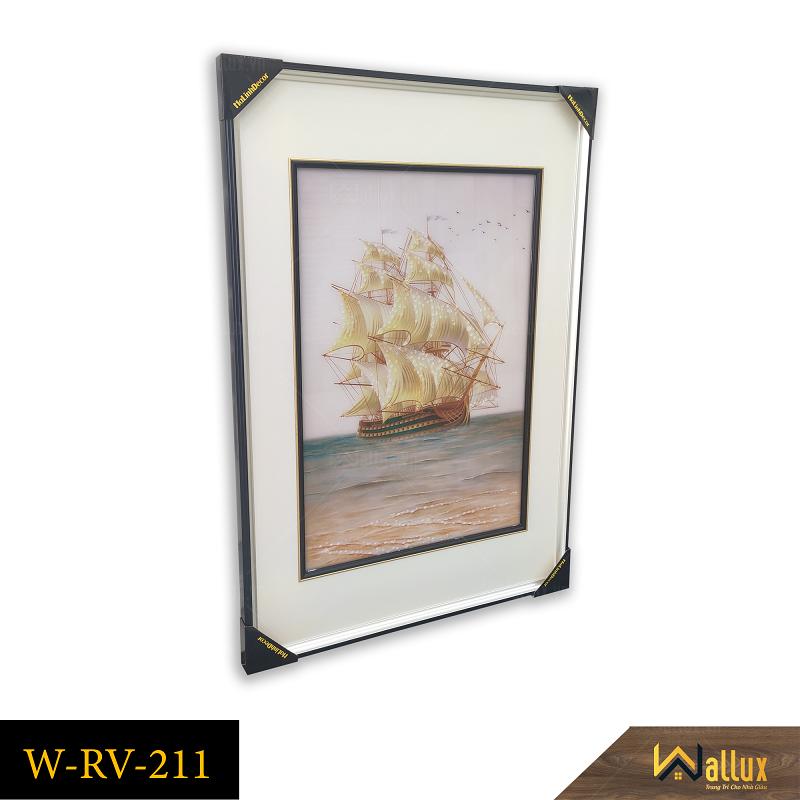 Tranh treo tường pha lê tráng gương thuận buồm xuôi gió W-RV-211