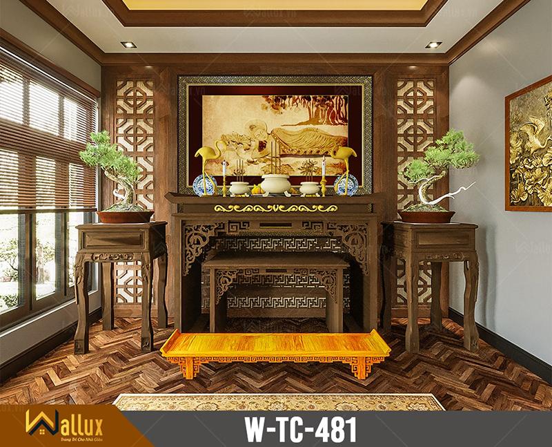 Tranh trúc chỉ chạm nét ánh kim Phật nằmW-TC-481 (197x127)
